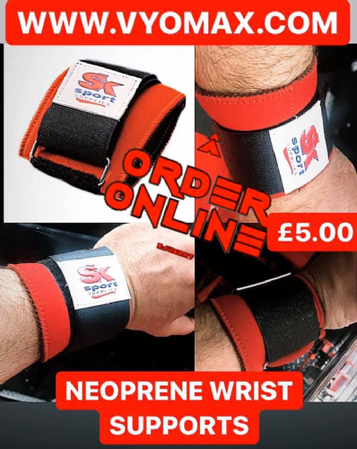 SK SPORTS NEOPRENE WRIST SUPPORTS (PAIR)